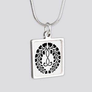 Kujo wisteria Silver Square Necklace
